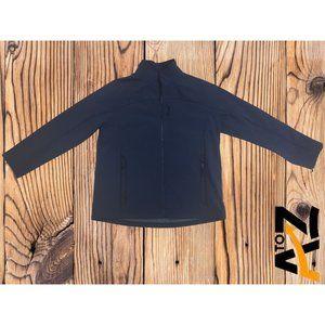 Men's Fleece Navy Softshell Jacket Size XL